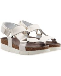 Marc Jacobs - Leather Sandals With Cork Midsole - White - Lyst