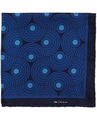 Kiton Circle-swirls Pocket Square - Lyst