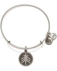 ALEX AND ANI Seven Swords Ii Expandable Wire Bangle - Lyst
