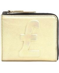 3.1 Phillip Lim Metallic Pound Embossed Wallet - Lyst