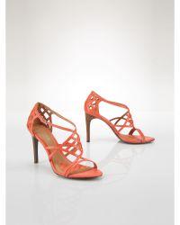 Ralph Lauren Leather Sydney Sandal - Lyst