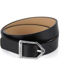 HUGO - Leather Bracelet With Metal Clasp: 'timeless Bracelet' - Lyst