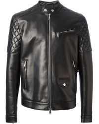 DSquared2 Mash Leather Jacket - Lyst