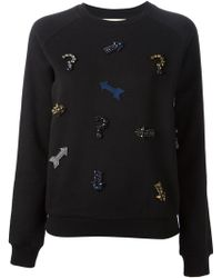 Stella McCartney Question Mark and Arrow Embellished Sweatshirt - Lyst