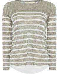 Linea Weekend | Cavern Double Layer Stripe Top | Lyst