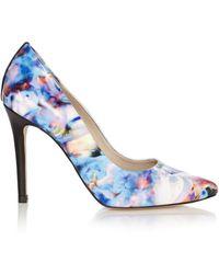 Karen Millen Beautiful Floral Print Court blue - Lyst