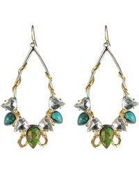 Alexis Bittar Olmeca Turquoise Two Tone Teardrop Earrings - Lyst