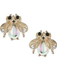 Topshop Mini Bug Stud Earrings  Clear - Lyst