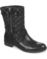 Franco Sarto Padua Quilted Moto Booties - Lyst