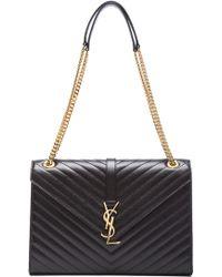 Saint Laurent Large Monogramme Chain Bag black - Lyst