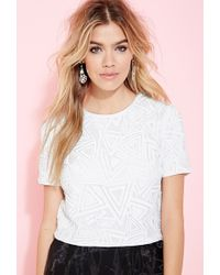 Forever 21 Triangle-Patterned Sequin Top - Lyst