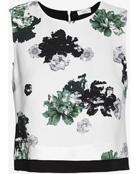 A.L.C. Devoe Floral Graphic Crop Top - Lyst