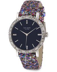 Kate Spade Metro Grand PavÉ Stainless Steel & Interchangeable Glitter Strap Watch multicolor - Lyst