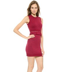 DSquared2 Knit Dress Corallo - Lyst