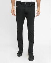 DIESEL | Black Thepphar Pr Slim-fit Jeans | Lyst