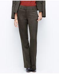 Ann Taylor Curvy Birdseye Trousers - Lyst