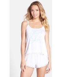 Wildfox 'Dressed Up In Love' Camisole Pajamas - Lyst