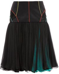 Sophie Theallet - Dropped Waist Pleated Skirt - Lyst