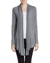 Ellen Tracy - Striped Open Front Cardigan - Lyst
