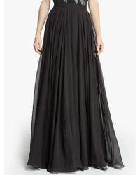 Halston Flowy Georgette Maxi Skirt - Lyst