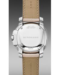 Burberry Brit - The Britain Bby1400 38mm Diamond Bezel - Lyst