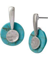 Robert Lee Morris Soho Semiprecious Stacked Drop Earrings - Lyst