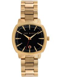 Ted Baker Hamilton Gold Plated Bracelet Watch - Lyst