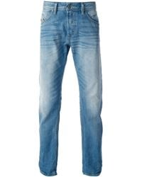 Diesel Washed Slim Jeans - Lyst