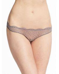 Catherine Malandrino Lacy Cross-Dyed Bikini silver - Lyst