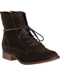 Steve Madden Rawlings Ankle Boot Olive Suede brown - Lyst