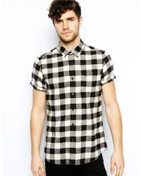 Asos Shirt in Short Sleeve with Buffalo Plaid - Lyst
