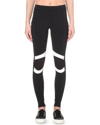 No Ka 'oi Malu Contrast-Panelled Jersey Leggings - For Women - Lyst