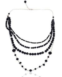 Toosis Multi Layer Onyx Stones Necklace - Lyst
