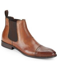 Vince Camuto Sergio Leather Chelsea Boots - Lyst