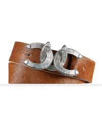 Ralph Lauren Equestrian Haircalf Belt brown - Lyst