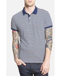 Gant Rugger Stripe Jersey Polo - Lyst