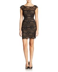 Nicole Miller Stretch Lace Dress - Lyst