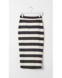 A.L.C. Guy Stripe Pencil Skirt black - Lyst