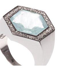 Jade Jagger | Diamond, Aquamarine & White-Gold Ring | Lyst