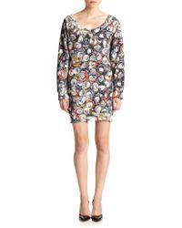 Moschino Soda-print Sweatshirt Dress - Lyst