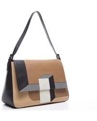 Fendi Preowned Intarsio 3d Colorblock Mama Bag - Lyst