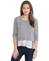 Monrow Snake Print Double Layer Jersey Sweatshirt - Lyst