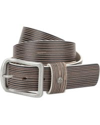 Original Penguin Scored Leather Belt - Lyst