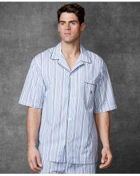 Polo Ralph Lauren Striped Cotton Short-Sleeve Pajama Top - Lyst