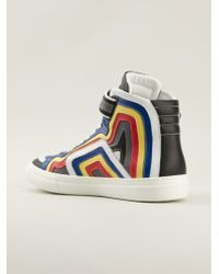 Pierre Hardy Multicolor Hitop Sneakers - Lyst
