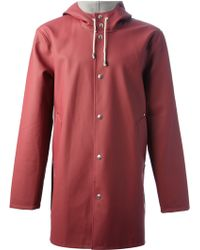 Stutterheim Red Stockholm Raincoat - Lyst