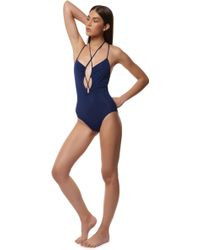 Mara Hoffman | Cut Out Front One Piece | Lyst