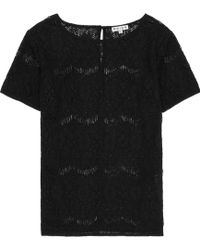Reiss Myriam Sheer Lace Top - Lyst