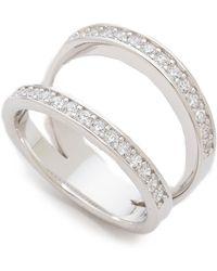 Fallon - Pave Split Ring Silver - Lyst