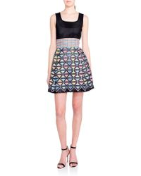 Marco De Vincenzo Embroidered Knit-Top Dress - Lyst